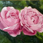"""Roses"" Brenda Stonehouse 11"" x 14"" oil on canvas. Private collection."